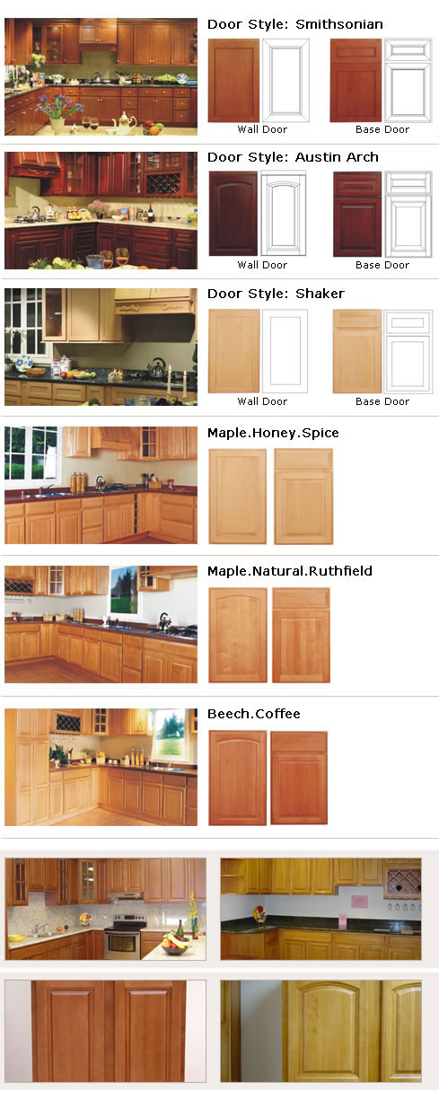 mangy door of hardwood kitchen cabinets